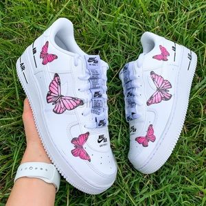 Nike Air Force 1 Pink Butterfly Sneaker